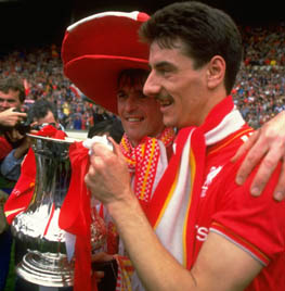 Kenny Dalglish and Ian Rush of Liverpool